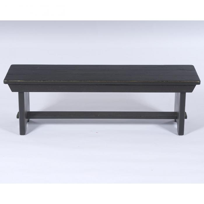 Alabama Furniture Market Attic Heirlooms Black Dining Bench