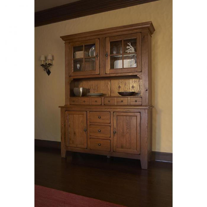 Alabama Furniture Market Attic Heirlooms Natural Oak China Cabinet