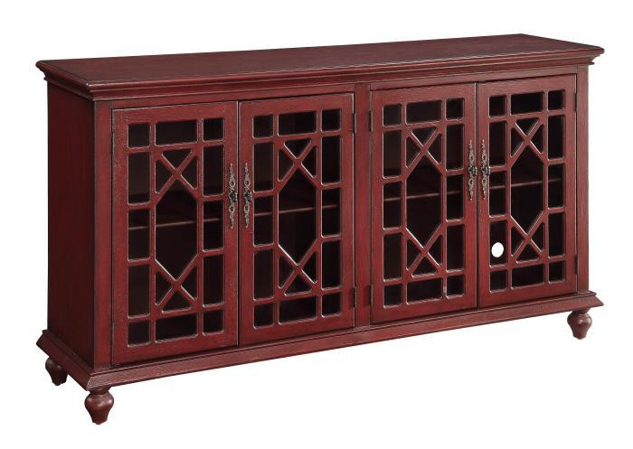 Alabama Furniture Market Esnon Texture Red Media Credenza